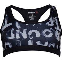 Reebok Womens Running Essentials Printed Sports Bra Black