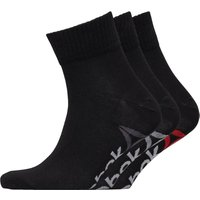 Reebok Mens Three Pack Essentials Training Quarter Socks Black