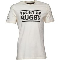 Front Up Rugby Mens Bryden Logo T-Shirt Front Up Off White