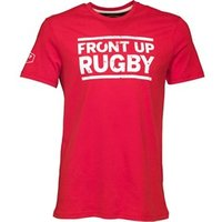 Front Up Rugby Mens Bryden Logo T-Shirt Front Up Red