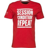 Front Up Rugby Mens Collins Logo T-Shirt Front Up Red