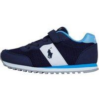 Ralph Lauren Boys Zaton PS Trainers Evening Blue Microsuede