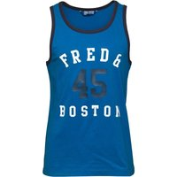Fred & Boston Mens Vest With Mesh Print Blue