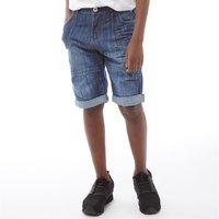 Ripstop Junior Mintons Denim Utility Shorts Light Wash