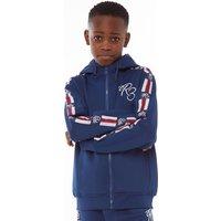 Ripstop Junior Boys New York Zip Up Hoody Estate Blue