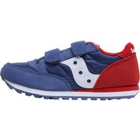 Saucony Boys Jazz Double Velcro Trainers Blue/Red