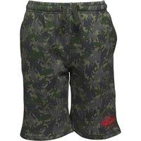 SKECHERS Junior Boys Keauna Print Fleece Shorts Khaki Camo