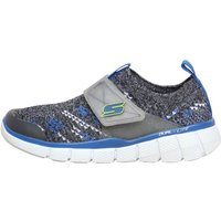 SKECHERS Boys Equalizer 2.0 Quick Sprint Trainers Grey/Blue