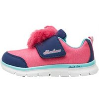 SKECHERS Infant Girls Skech-Lite Lil Critter Trainers Hot Pink/Navy