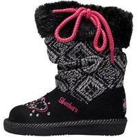 SKECHERS Infant Girls Twinkle Toes GlamSlam Lil Lovelies Boots Black