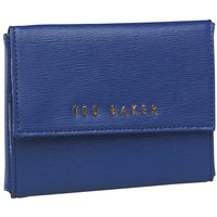 Ted Baker Womens Flurina Xhatch Leather Jewellery Case Bag Blue