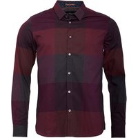 Ted Baker Mens Big Deal Long Sleeve Large Check Shirt Red