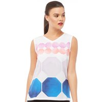 Ted Baker Womens Canndy Marina Mosaic Vest T-Shirt White