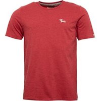 Tokyo Laundry Mens Essential Crew Neck T-Shirt Tokyo Red Marl