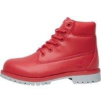 Timberland Junior Girls 6 Inch Premium Boots Geranium