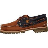 Timberland Mens Authentics 3 Eye Lug Shoes Saddle