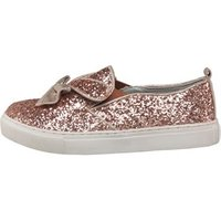 Truffle Collection Girls Glitter Pumps Rose Gold