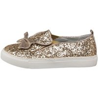Truffle Collection Girls Glitter Pumps Champagne