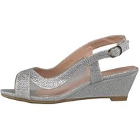 Truffle Collection Girls Glitter Shoes Silver