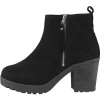 Truffle Collection Womens Chunky Heeled Boots Black