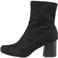 Truffle Collection Womens Block Heel Boots Black