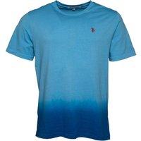 U.S. POLO ASSN. Mens Kneece T-Shirt Ethereal Blue/Director Blue