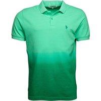U.S. POLO ASSN. Mens Campbell Polo Opal/Bright Green