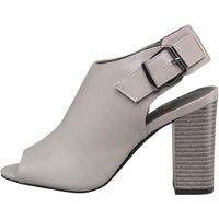 Feud Womens Peep Toe Ankle Shoes Grey