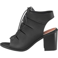 Feud Womens Melissa Cut Out Shoes Black