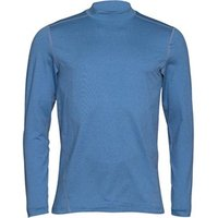 Under Armour Mens ColdGear Evo Long Sleeve Fitted Mock Neck Top Blue