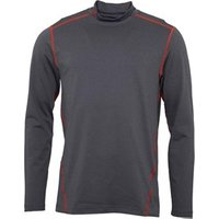 Under Armour Mens ColdGear Evo Long Sleeve Fitted Mock Neck Top Carbon
