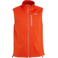 Under Armour Mens ColdGear Storm Infrared Reflective Run Vest Bolt Orange