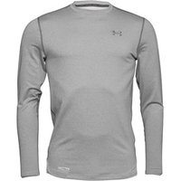 Under Armour Mens ColdGear Evo Fitted Long Sleeve Crew Neck Top Dark Grey Heather