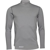 Under Armour Mens ColdGear Evo Fitted Long Sleeve Mock Neck Top Grey