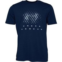Under Armour Mens Charged Cotton Big Logo Top Navy
