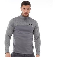 Under Armour Mens Armour Fleece Fitted 1/2 Zip Long Sleeve Top Grey