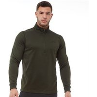 Under Armour Mens Armour Fleece 1/2 Zip Long Sleeve Top Artillery Green/Black