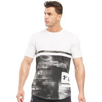 Under Armour Mens Charged Cotton Sportstyle Printed Top White