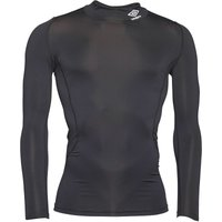 Umbro Mens Compression Baselayer Mock Neck Top Black