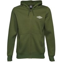 Umbro Mens Full Zip Hoody Capulet Olive/White/Black
