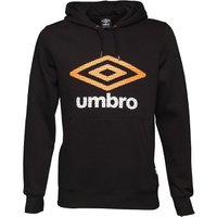 Umbro Mens Hoody Black/Orange Pop/White