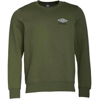 Umbro Mens Crew Neck Sweat Top Capulet Olive/White/Black