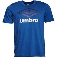 Umbro Mens Large Logo T-Shirt Royal/Astral Aura/White