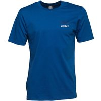 Umbro Mens Small Logo T-Shirt Royal/Astral Aura/White