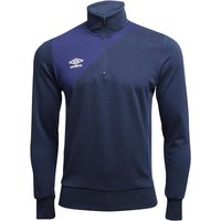 Umbro Mens Teamwear Training 1/2 Zip Sweat Top Dark Navy/Blueprint
