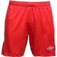 Umbro Mens Teamwear Match Poly Football Shorts Vermillion/White
