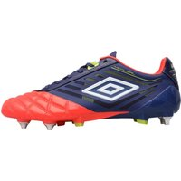 Umbro Mens Medusae Pro SG Football Boots Cobalt/White/Coral/Sulphur
