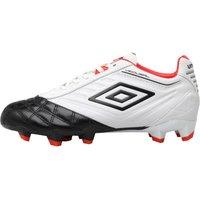 Umbro Junior Medusae Premier HG Football Boots White/Black/Grenadine