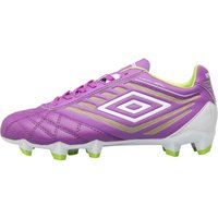 Umbro Junior Medusae Premier HG Football Boots Purple Cactus/White/Lime