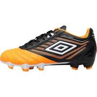 Umbro Junior Medusae Premier HG Football Boots Orange Pop/White/Black